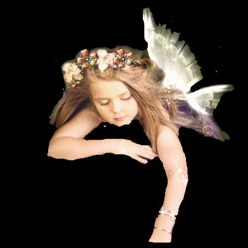 Dziewczyna Anioł z wianuszkiem