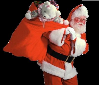Mikołaj z workiem prezentów