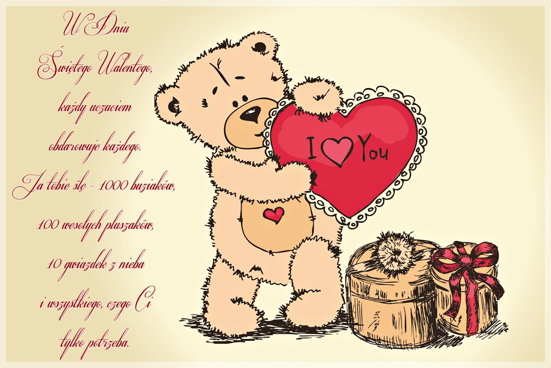 Wierszyk Walentynkowy Od Misia Z Sercem Gify I Obrazki Na