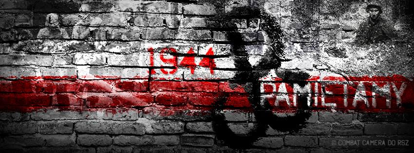Napis 1944 Pamiętamy na murze