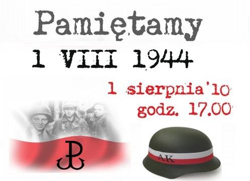 Pamiętamy 1 sierpnia 1944 - 17 godzina